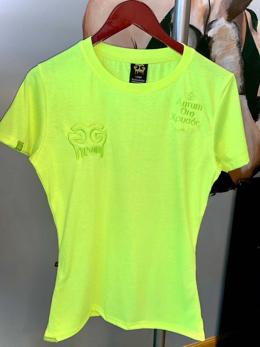 Neon Yellow Gold Girls Drip Tee