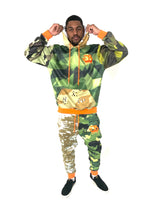 Load image into Gallery viewer, Camouflage Pullover Hoodie + Joggers Set