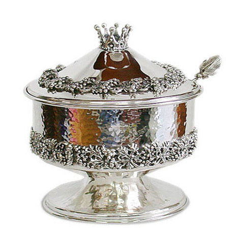 Sterling Silver Royal Hammered Silver Dish by Bier Judaica