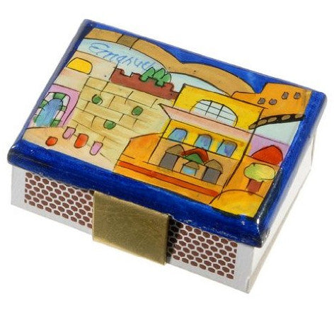 Wooden Match Box by Yair Emanuel - Matana Boutique
