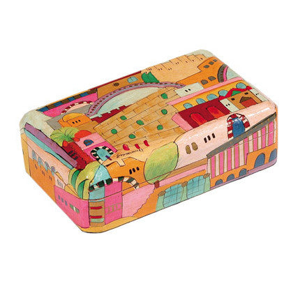 Wooden Painted Jerusalem Jewelry Box by Yair Emanuel