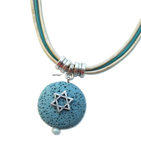 Star of David Pendant Necklace by ChenZ Designs