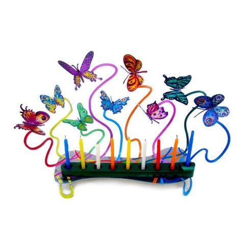 Butterflies Chanukah Menorah by David Gerstein