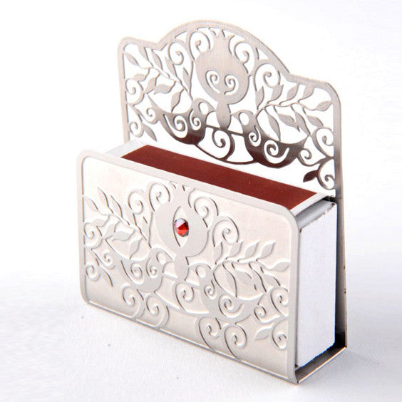 Pomegranate Stainless Steel Matchbox Cover by Dorit Judaica - Matana Boutique