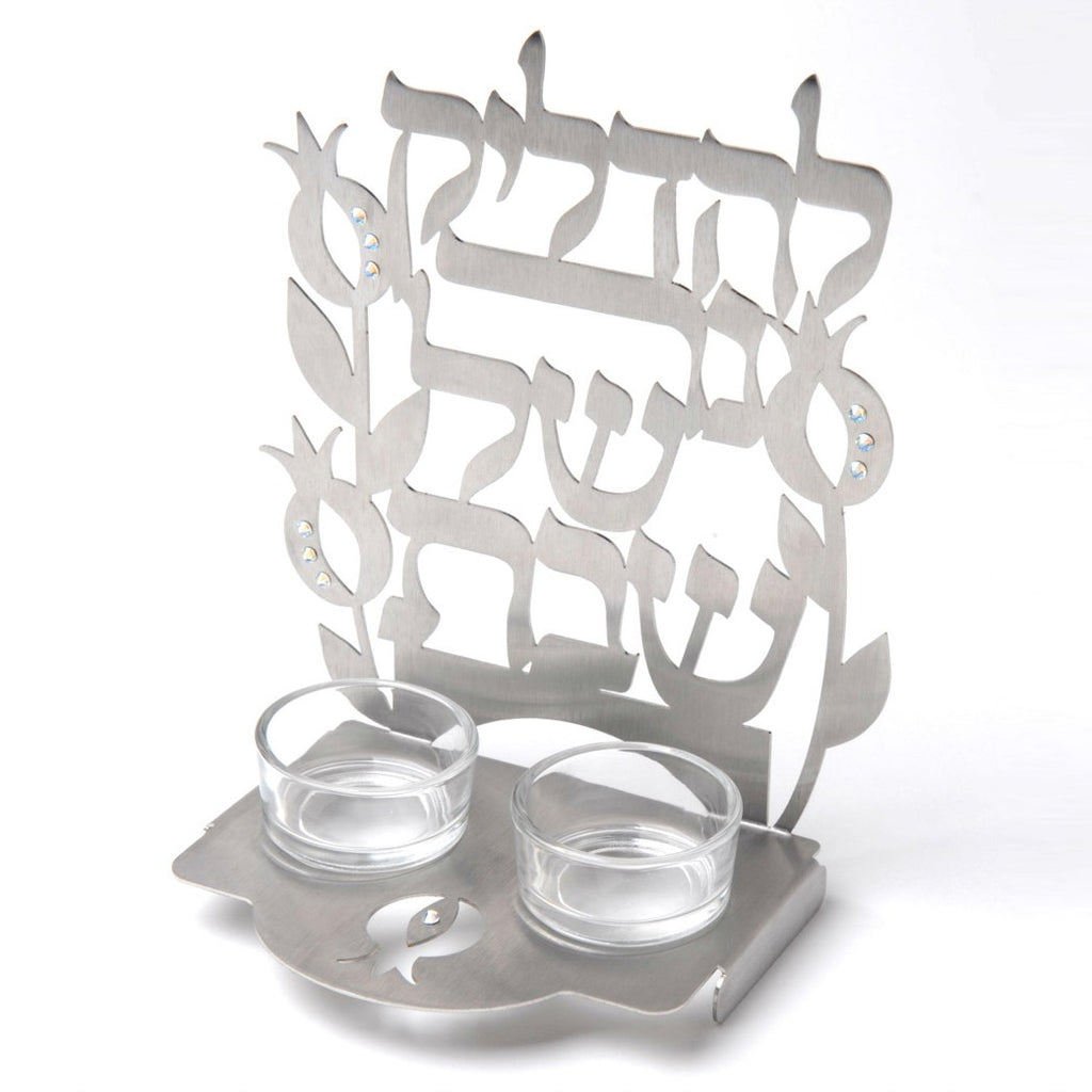 Shabbat Laser Cut Candlesticks by Dorit Judaica - Matana Boutique