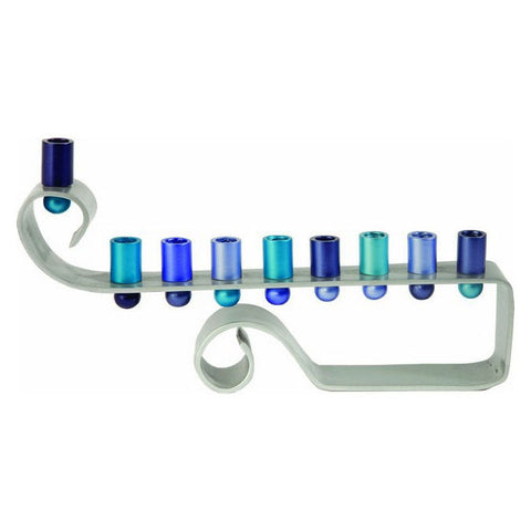 Anodized Aluminum Chanukah Menorah by Yair Emanuel