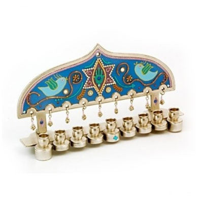 Gold Plated Chanukah Menorah by Ester Shahaf