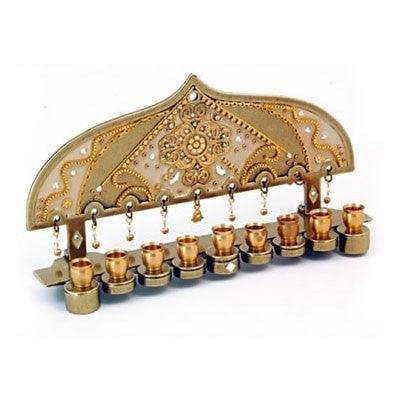 Pewter Chanukah Menorah by Ester Shahaf