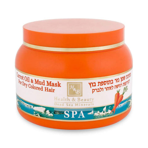 Dead Sea Carrot Oil Hair Mask with Mud by Health & Beauty
