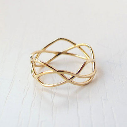 Gold Filled Infinity Ring by Lior Zager - Matana Boutique