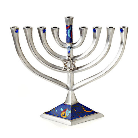 Aluminum Chanukah Menorah by Lily Art
