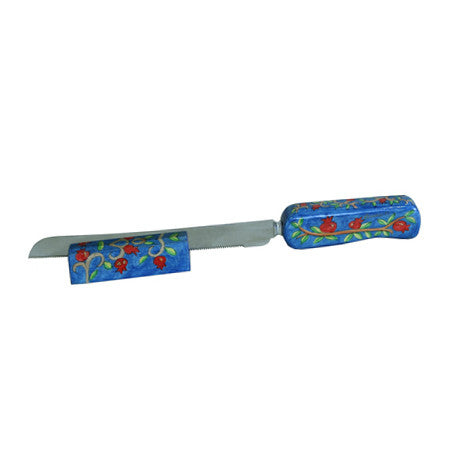 Pomegranates Challah Knife Set by Yair Emanuel - Matana Boutique