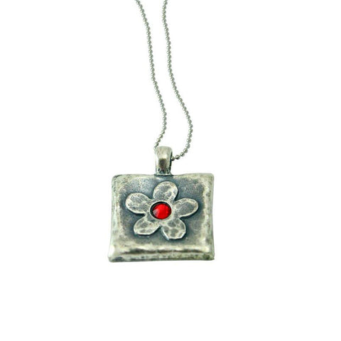 Rocket Rose Pendant made from Kassam Rockets by Yaron Bob