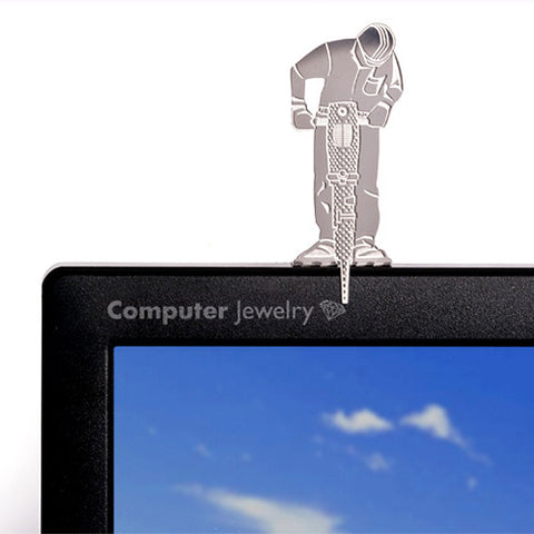 Computer Screen Jewelry Working Man by Shahar Peleg