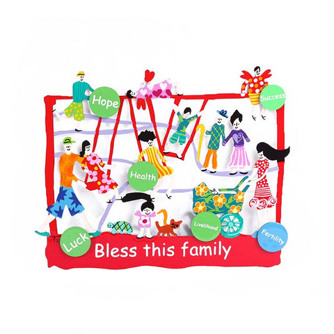 Hand Painted Family Home Blessing In English Tzuki Art