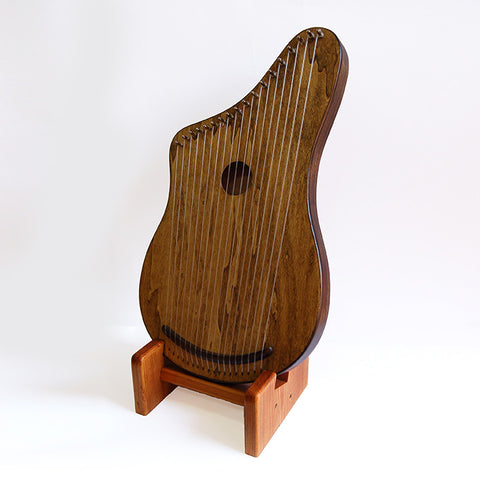 Belly Harp, 18 Strings with Custom Stand by Woodsong