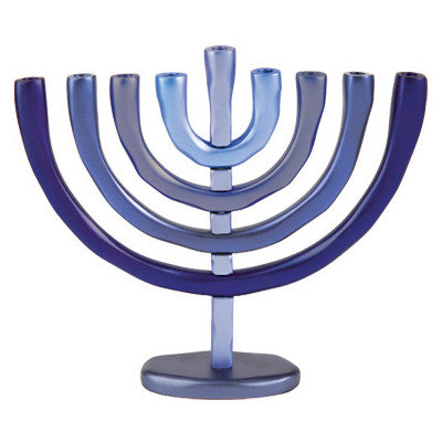 Anodized Aluminum Chanukah Menorah by Yair Emanuel - Matana Boutique