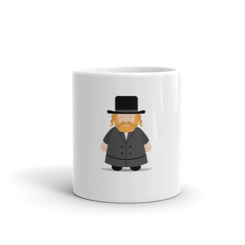 Chasid Rebbe Mug by Yiddy Lebovits