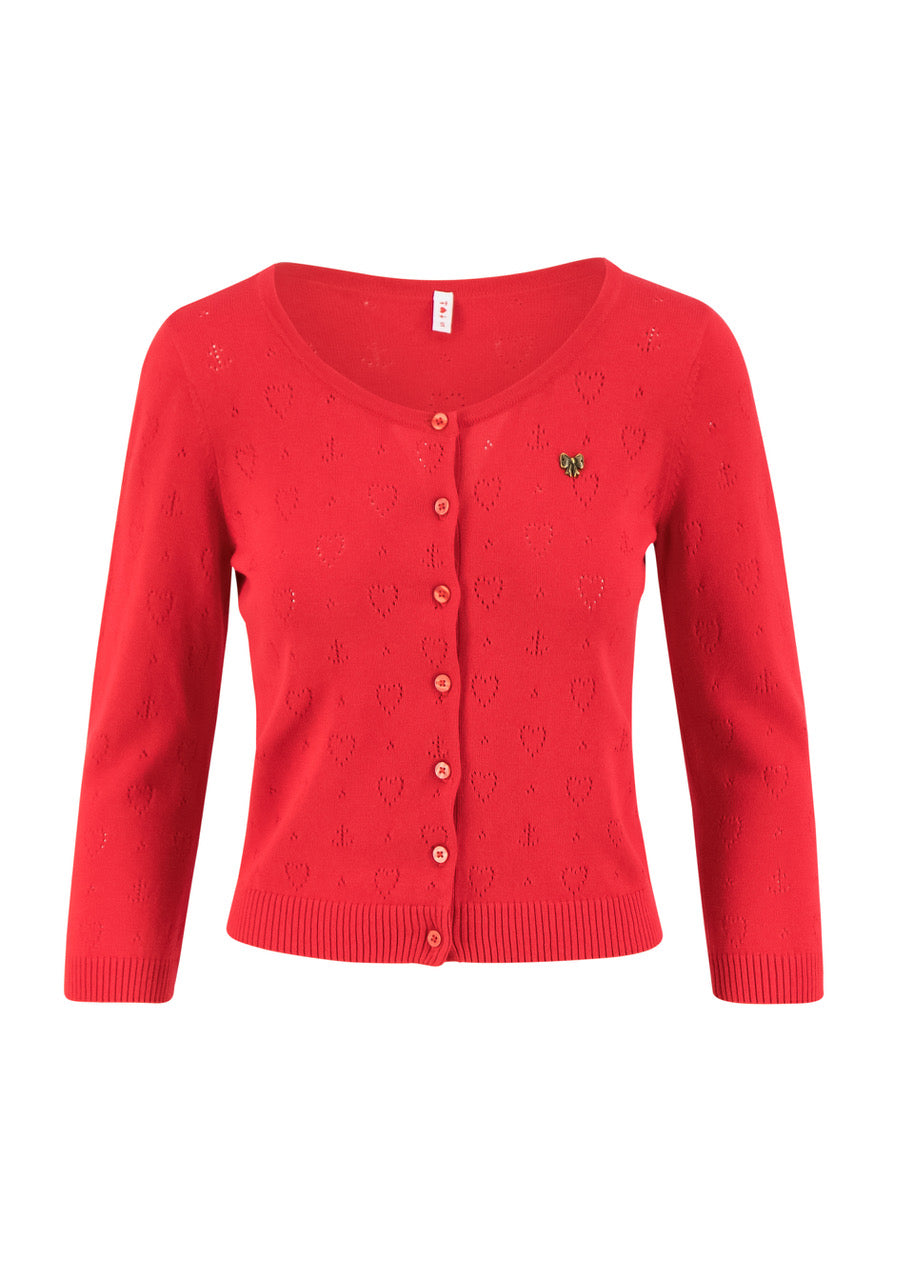 Damen Strickjacke rot