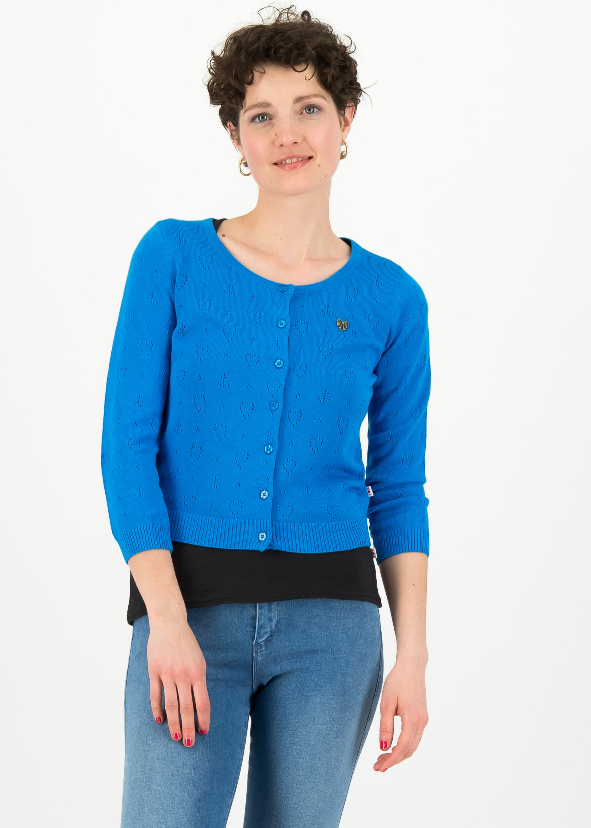Damen Strickjacke blau