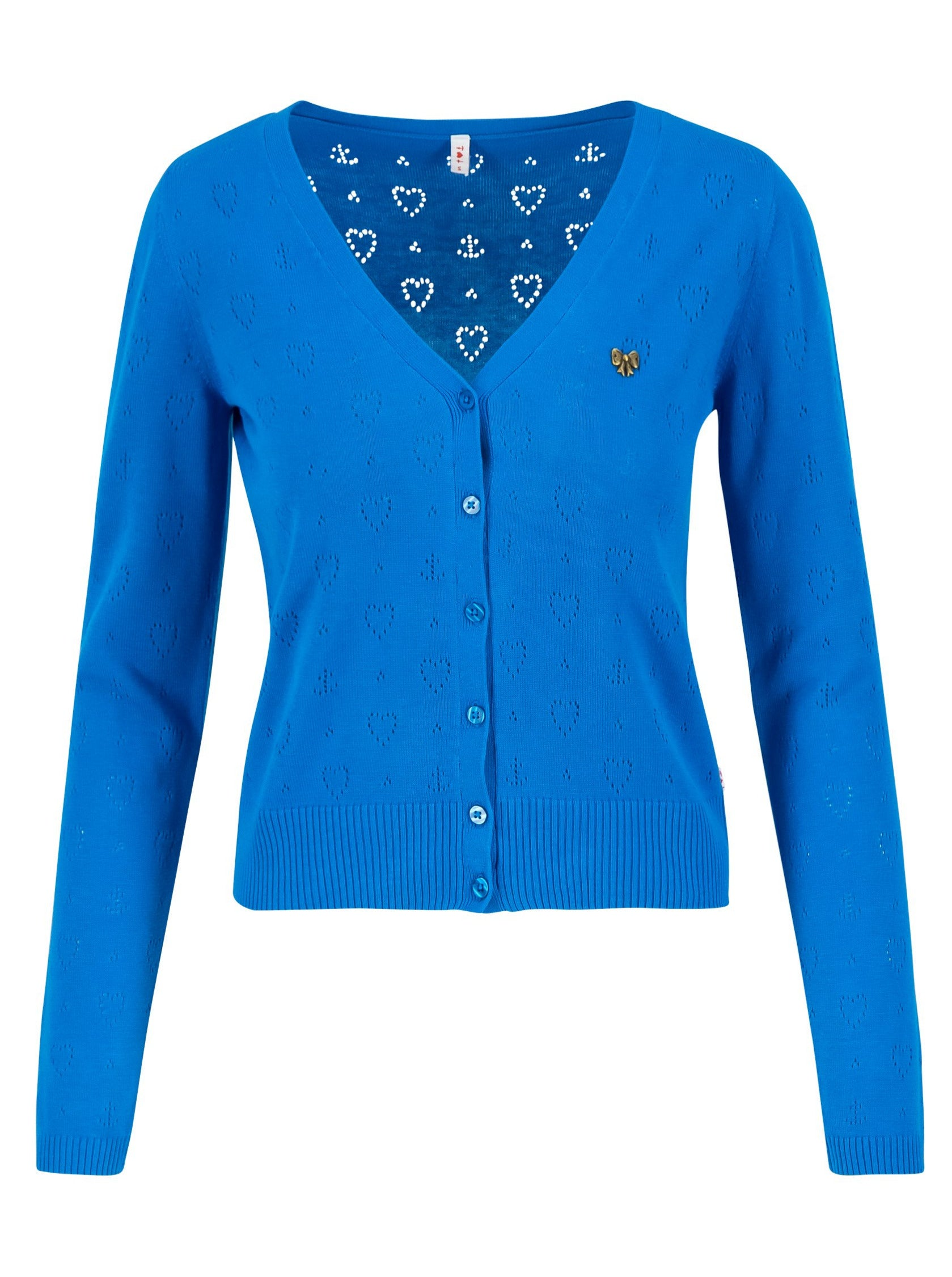 Damen V-Strickjacke blau