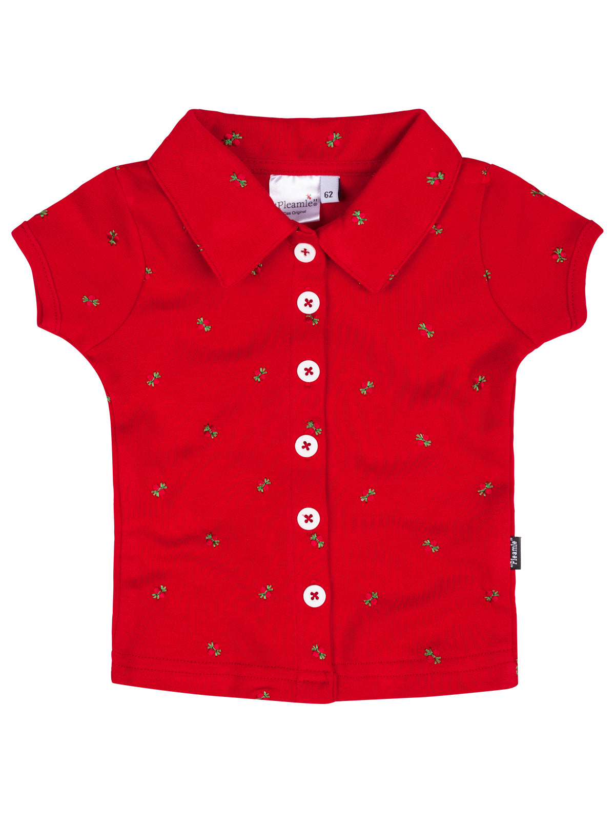 Pleamle Baby Polo Kurzarm Original rot