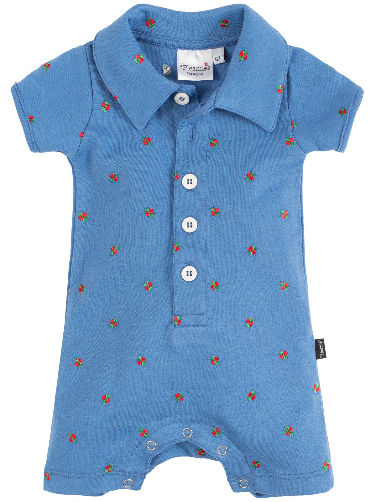 Pleamle Baby Body Kurzarm Original hellblau