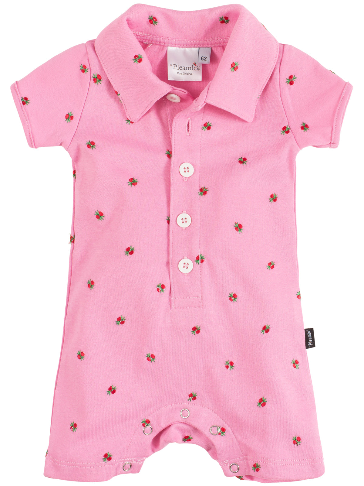 Pleamle Baby Body Kurzarm Original rosa
