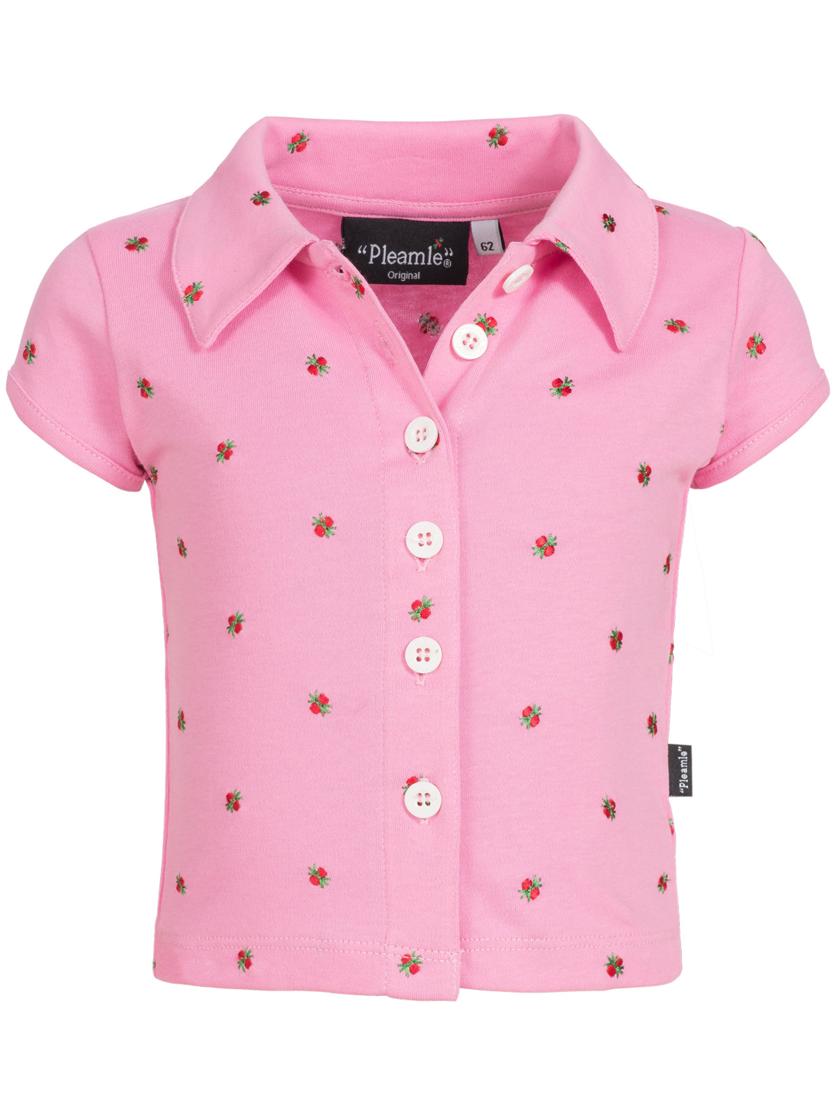 Pleamle Baby Polo Kurzarm Original rosa