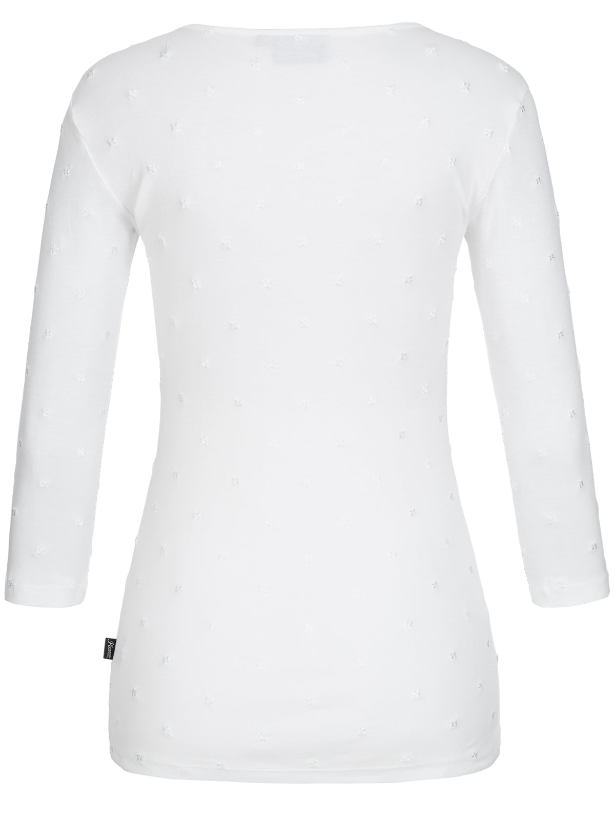 Pleamle Damen Shirt 3/4 Arm weiß TiT