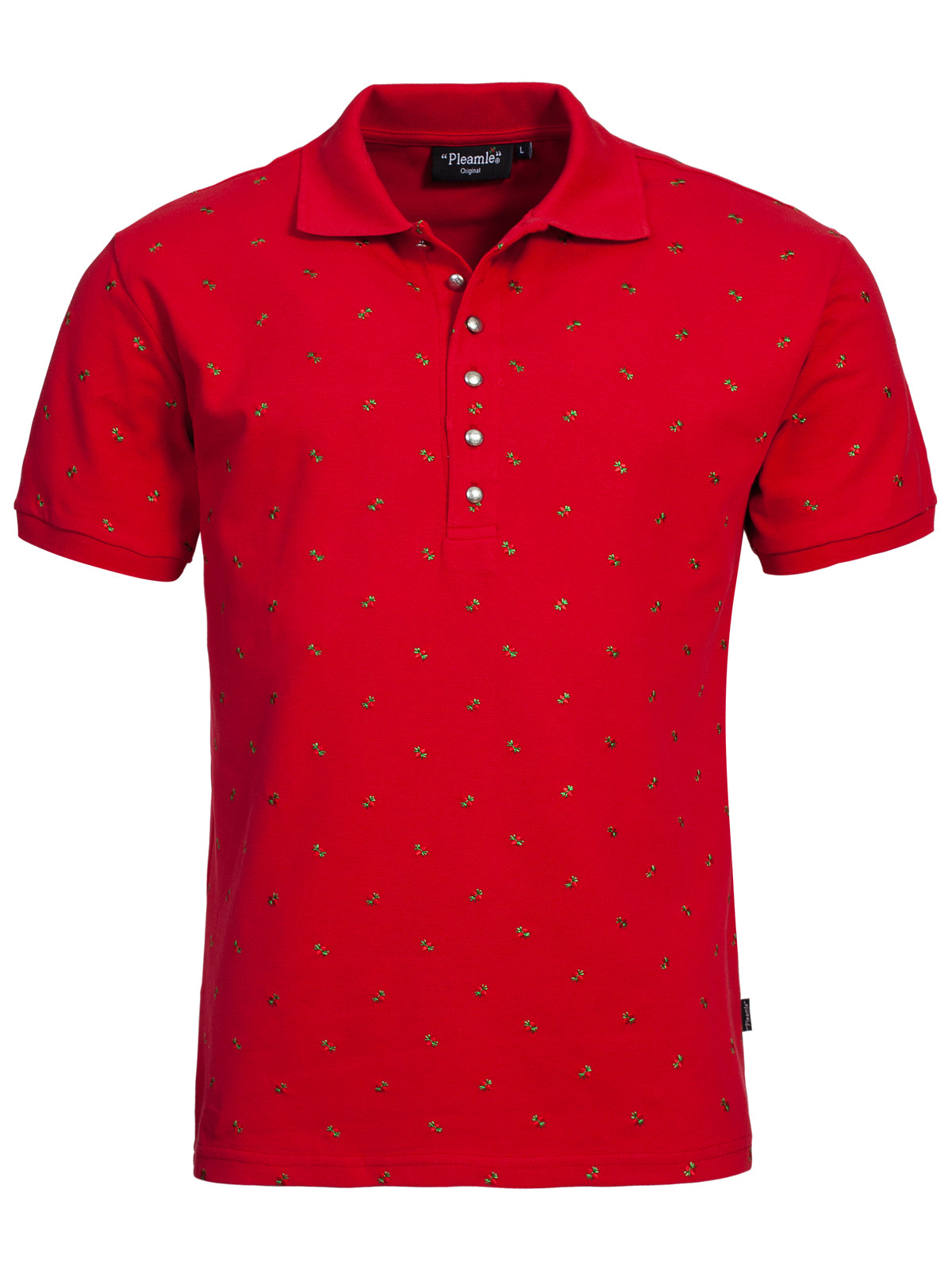 Pleamle Herren Polo kurzarm rot original