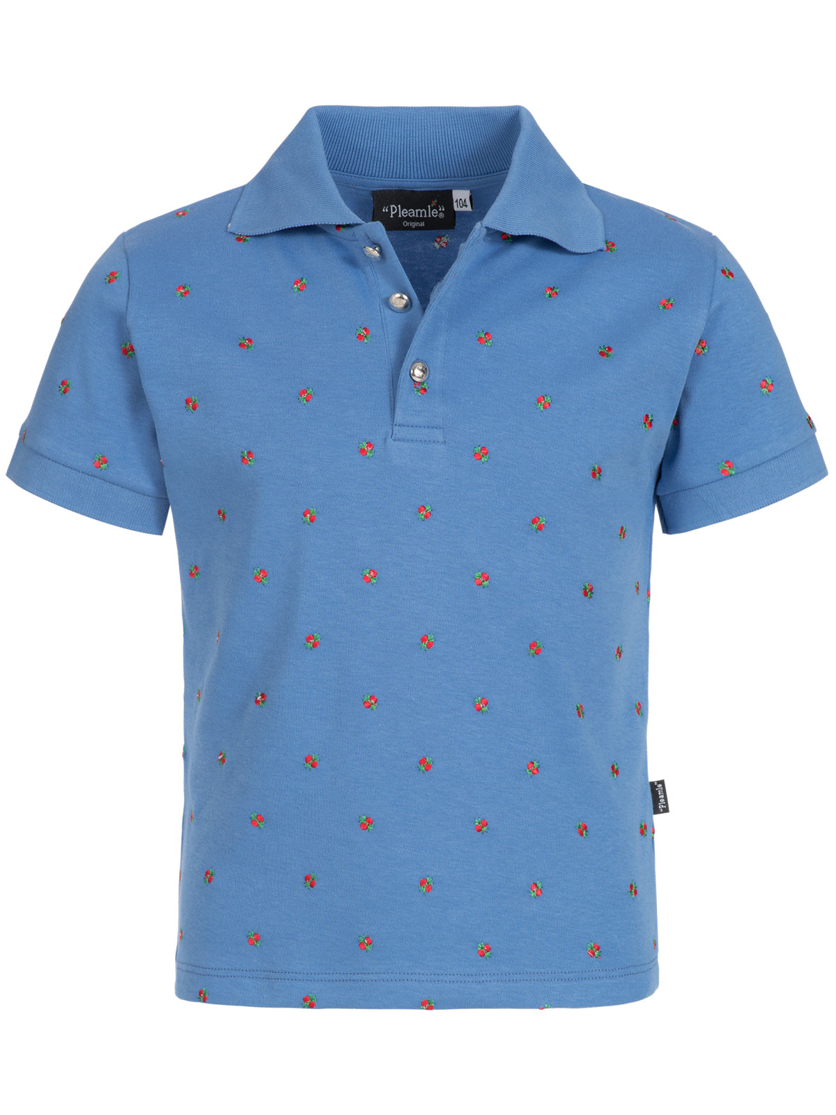 Pleamle Kinder Polo Kurzarm Original hellblau