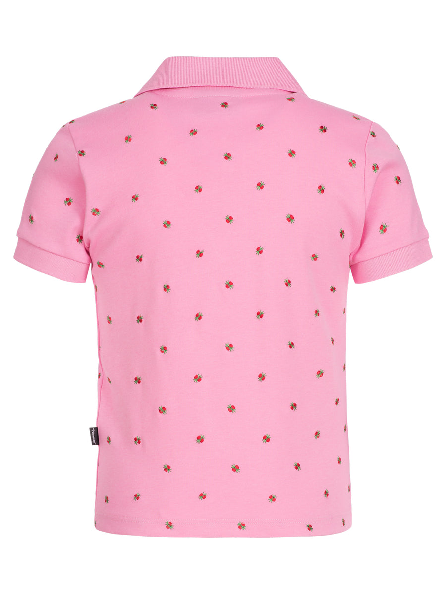 Pleamle Kinder Polo Kurzarm Original rosa