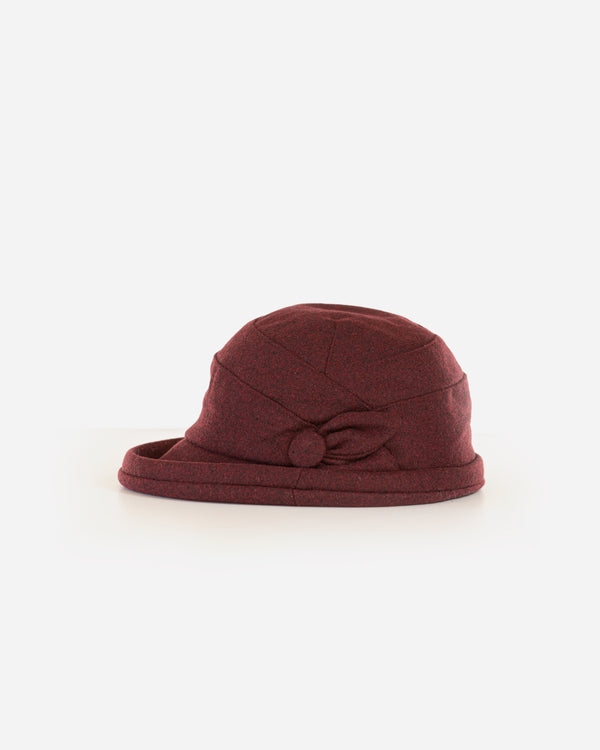 Soft Cloche Hat with Button