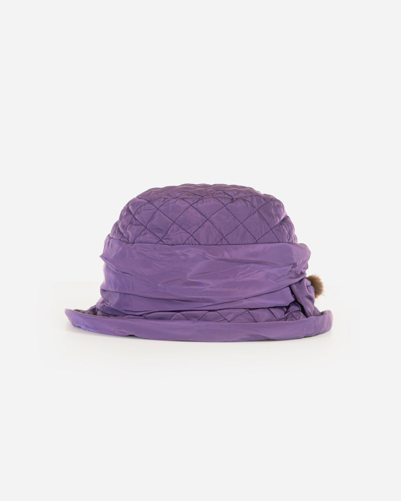 Quilted Rain Hat with Earflaps