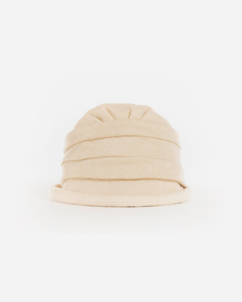 Small Brim Ruffled Cloche Hat