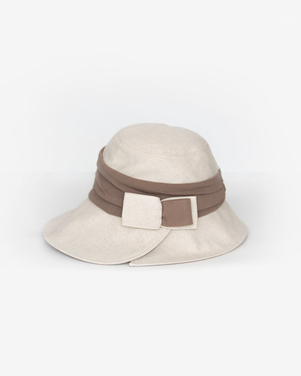 Side Cut Two-Toned Sun Hat