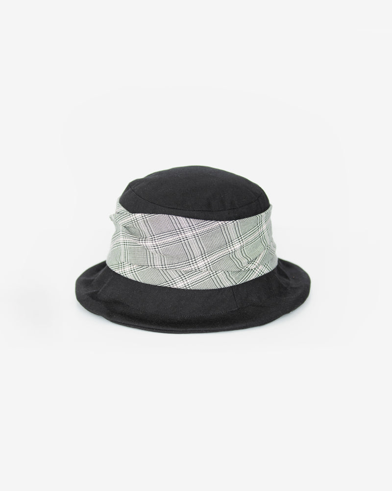 Plaid Upturned Brim Bucket