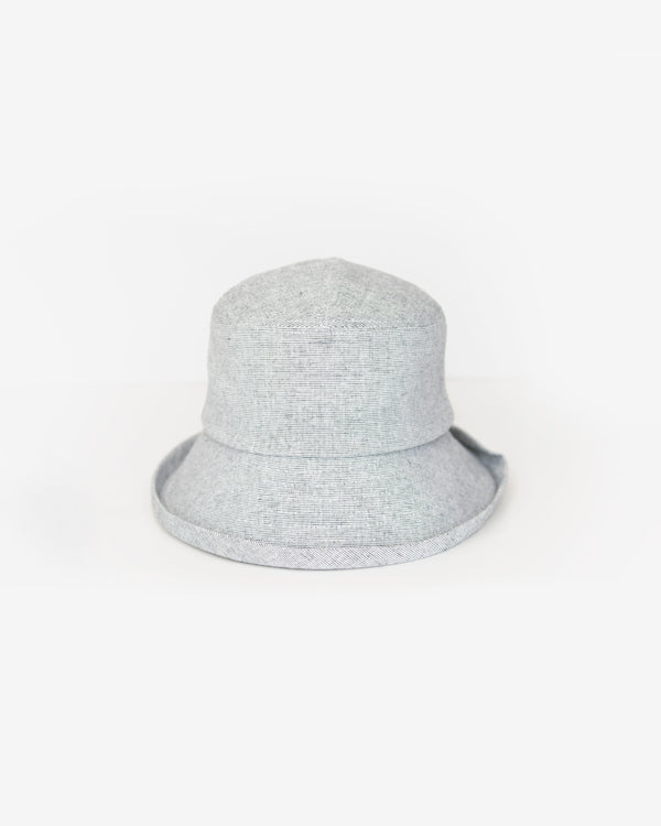 Tweed Woven Bow Cloche