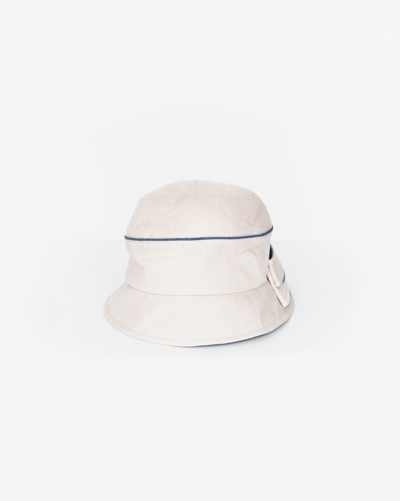 Two-Toned Folded Bow Cloche