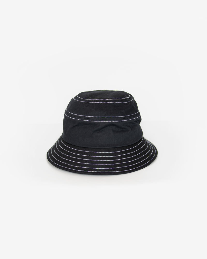Contrast Stitch Bucket Hat