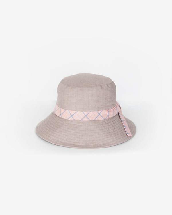 Checkered Band Bucket Hat