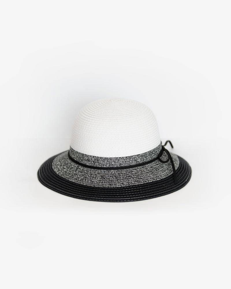 Two-Toned Packable Straw Sun Hat