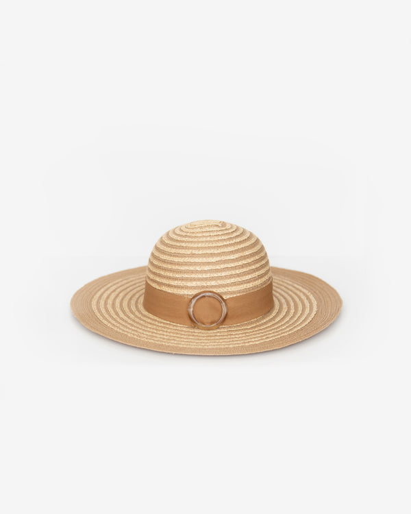 Buckled Raffia Sun Hat