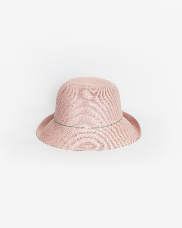 Upturned Straw Bucket Hat