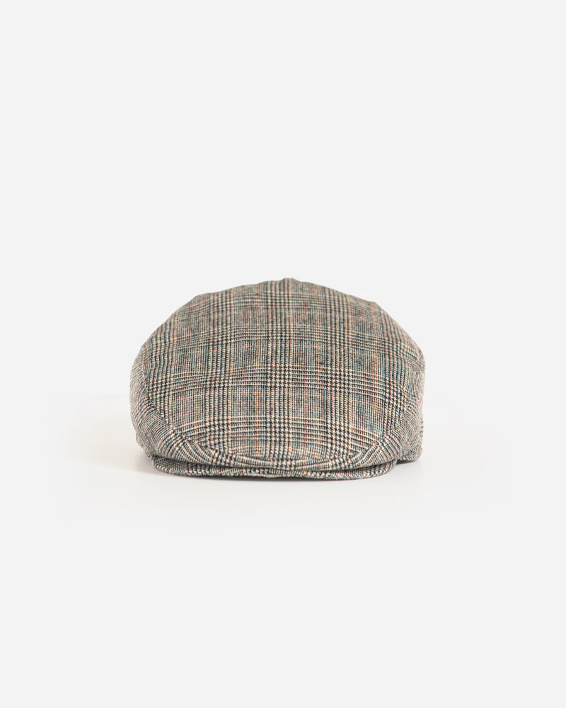 Wool Blend Glen Plaid Ivy Cap with Earflap