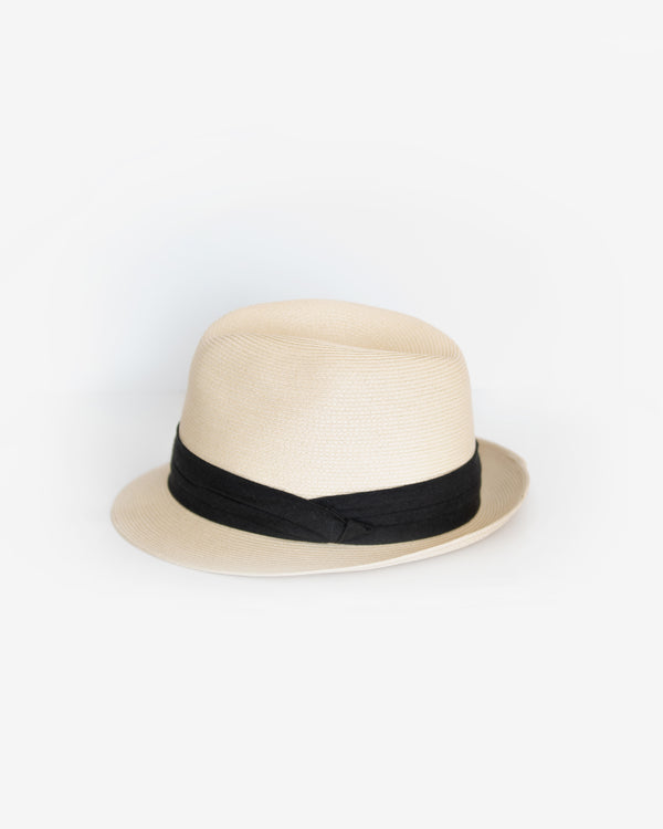 Short Brim Packable Fedora Hat