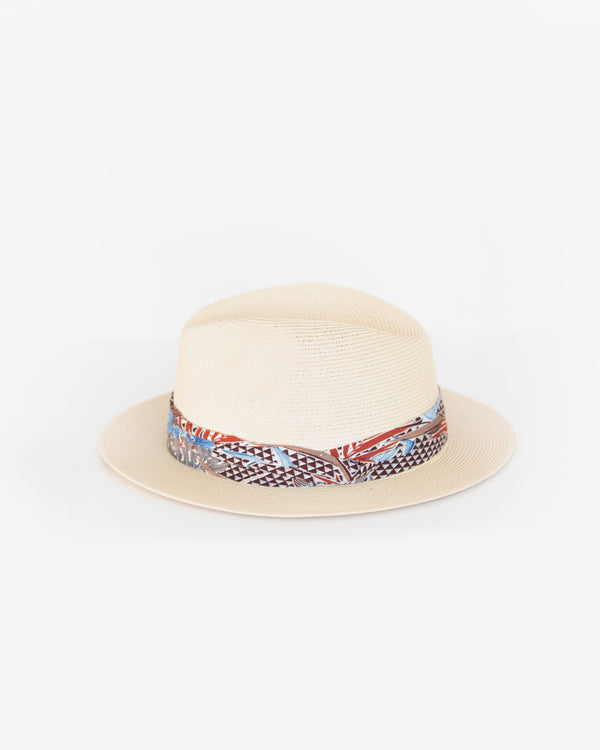 Floral Band Packable Safari Hat