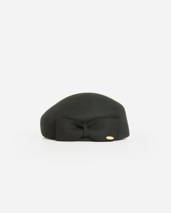 LUNA WOOL FELT PILLBOX BERET HAT