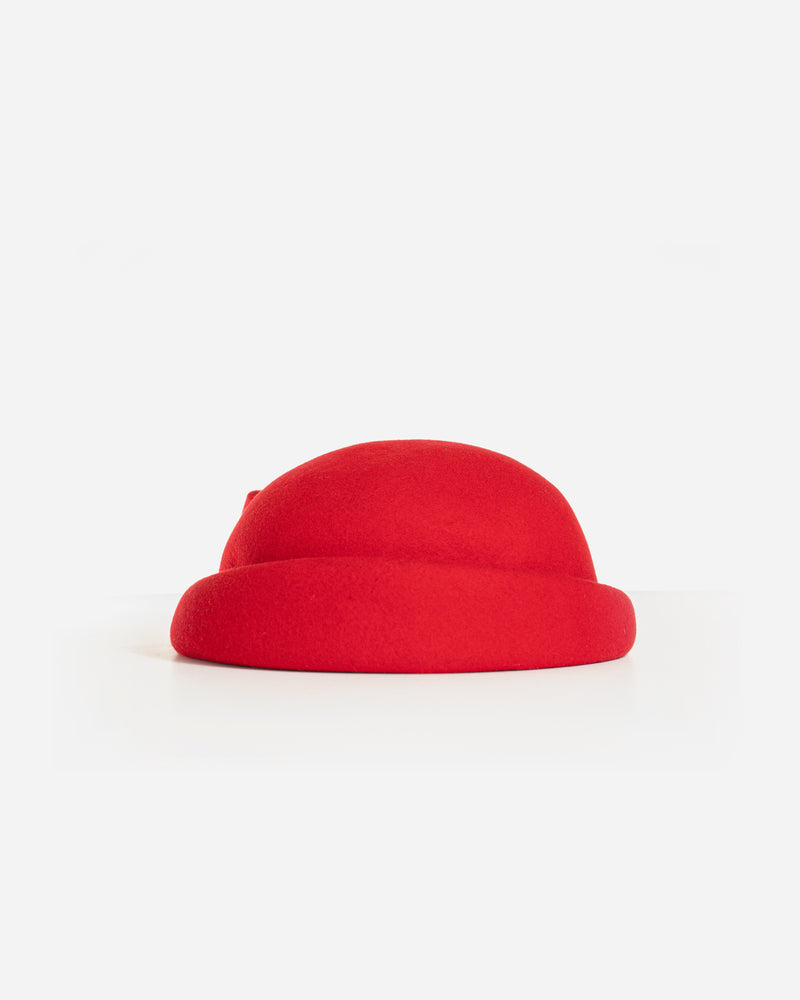 CORA WOOL FELT PILLBOX BERET HAT
